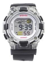 Lady Girl Sports Digital Watch Alarm DayDate Backlight Stopwatch Timer Black WR
