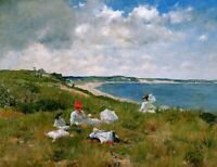 William Merritt Chase Idle hours Fine Art Print on Canvas Poster Decor Small