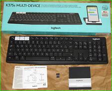 Logitech k375s QWERTY Clavier Wireless Sans Fil Bluetooth Unifying portable Tablet