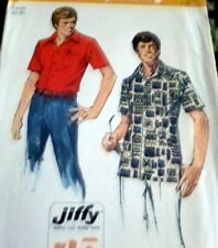 *VTG 1970s MENS SHIRT Sewing Pattern Large CHEST42-44