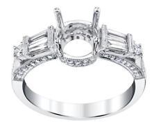Diamond Engagement Ring Setting 0.89ct 18k White Gold