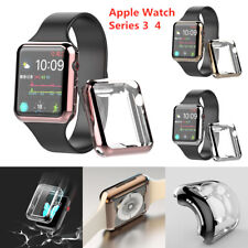 38-44mm For Apple Watch Series 3/4 Full Protective Case Screen Protector Cover