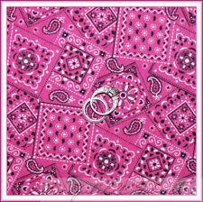 BonEful Fabric Cotton Quilt Pink B&W Cowgirl Bandana Paisley Flower Dot NR SCRAP