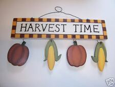 Wooden Harvest Time Decoration Halloween Fall