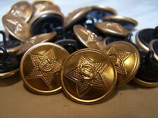 12 Russia USSR Uniform buttons w/hammer & sickle. 1990, unused. Steel/aluminum.