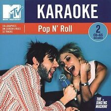 🎁 Xclnt! MTV Pop n Roll Karaoke The Singing Machine 2 disc set various artists!
