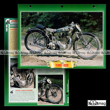 #088.05 Fiche Moto TERROT 350 HSSR 1930 Classic Motorcycle Card