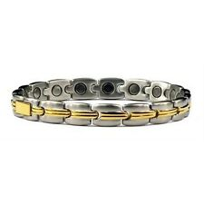 Dreams - Titanium Magnetic Therapy Bracelet Gold Plated and Silver Plated