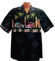 Big and Tall Classic Woody Hawaiian Aloha Shirt