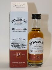 BOWMORE Darkest 15 YEARS WHISKY 50 ML 43% MINI BOTTIGLIA BOTTLE miniature bottela