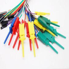 10pcs 28cm Test Clip Hooks Mini Grabber Probe For Logic Analyser Electrical DIY