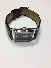 Burberry Ladies Watch,Stainless Steel Case(23mmX26mm)Black Dial/Leather Strap.