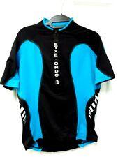 ETXEONDO Cycling Bike Jersey Mens Size L Black/Blue Shirt 3/4 zip, short sleeve