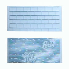 Hot Sale!2PC Wall Brick&Tree Bark Cake Decorating Sugarcraft & Chocolate Moulds