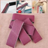 New 5x75mm Sanding Belts Abrasive Polish Sandpaper 60 80 100 120 240 Grit Sander
