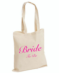 Wedding Favour Tote Bags Keepsake Hen PARTY Bridal Novelty TOP (BRIDE TO BE,BAG)