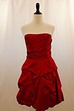 David's Bridal Strapless Polyester Red Pickup Dress Size 6