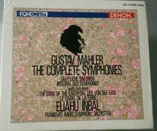 GUSTAV MAHLER - The Complete Symphonies - JAPAN DENON PCM DIGITAL 16 CD BOX SET