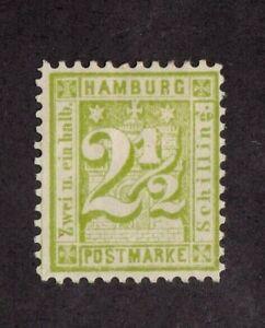 Hamburg stamp #23, MHOG, German State,  SCV $125.00