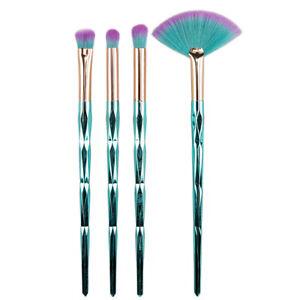 4Pcs Green Makeup Brushes Set Eye Shadow Blusher Professional Makeup Brush T.mc