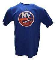 New York Islanders Reebok NHL Blue Hockey Team Logo Short Sleeve T-Shirt