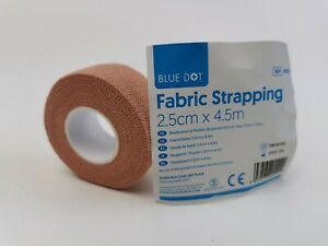 Fabric Strapping Tape Heavy Duty Sports Medical Support Tape. Pink 2.5cm x 4.5m