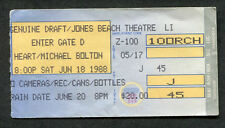 1988 Heart Michael Bolton concert ticket stub Wantagh NY Jones Beach