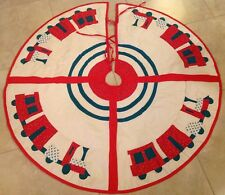 Patchwork And Appliqué Christmas Tree Skit, Cho Cho Trains, Green, Red, White