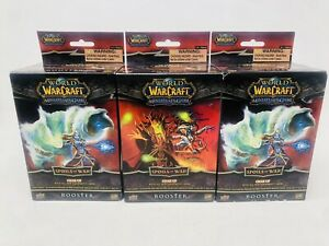World of Warcraft - Spoils of War - Miniatures Booster Pack 2009 Sealed Lot of 3