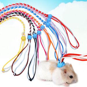 Pet Leash Lead Collar Adjustable Hamster Strap Rabbit Harness Gerbil Cage Rope#R