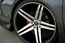 "4 NEW Verde Parallax 19"" Wheels Black Staggered 19x9.5 19x8.5"