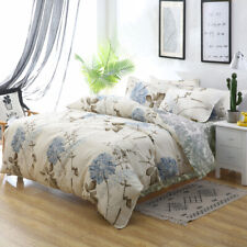 All Size Bed Quilt Duvet Doona Cover Set 100% Cotton Bedding Pillowcase Dandilio