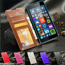 Premium Credit Wallet Leather Case Cover for Nokia LUMIA 640