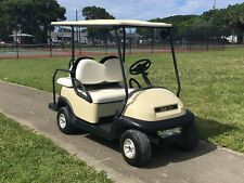 2008 custom Club Car precedent gas tan golf Cart 4 passenger seat w canopy lites