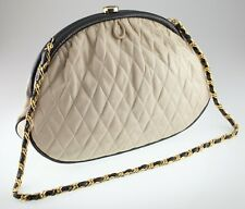 Gorgeous Vintage Chanel Quilted Leather Purse w/ Lizard Accents w/ Cloth Storage