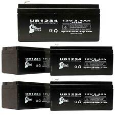 5-pack APC BACK-UPS ES BE350G Battery UB1234 12V 3.4Ah Sealed Lead Acid SLA AGM