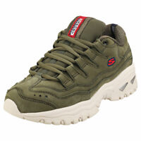Skechers Energy Wave Dancer Womens Olive Suede Fashion Trainers