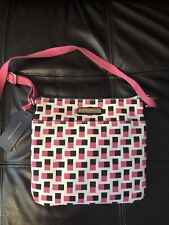 NEW Tommy Hilfiger Cross Body Bag Purse Canvas Pink, Black, And Beige