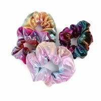 Elegant Laser Glitter Scrunchy Ponytail Holder Hairband Elastic Women Hair Rope