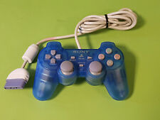 Transparent Blue Official Sony Playstation 1 PS1 Analogue Controller SCPH-110