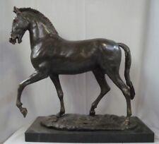 Statue Cheval Style Art Deco Style Art Nouveau Bronze Signe