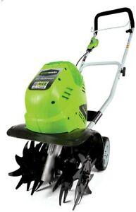 Greenworks Cordless Cultivator 10 Inch 40V Adjustable Tilting Steel 27062A New