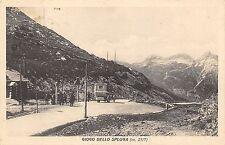 5780) GIOGO DELLO SPLUGA (SONDRIO) FURGONE POSTALE AL CONFINE. VG IL 11/7/1911.