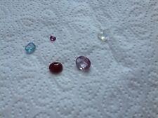 Lotto di pietre preziose multicolori.