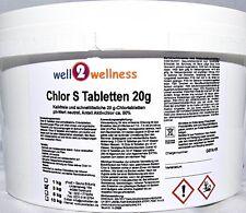 Schnell lösliche Chlortabletten 'Chlor S Tabletten' Chlortabs 20g - 3,0 kg
