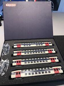 VITRAINS HO : COFFRET 4 VOITURES BANLIEUE VB2N SNCF NEUVES EN BOITE 1121 L