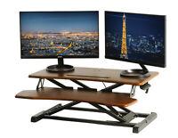 Wood Top Standing Desk Stand Up Desk Height Adjustable Desk Sit Stand Converter