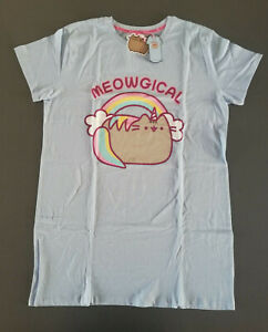 Pusheen Cat Damen Pyjama Nachthemd XXS-XXL Einhorn Katze Schlafshirt Bigshirt