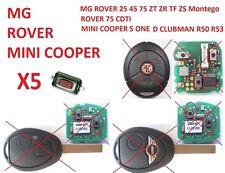 5 PULSANTE TELECOMANDO CHIAVE ROVER MG MINI COOPER+-