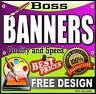Printed PVC Weatherproof Banners for Outdoor use Vinyl Banner Advertising Sign